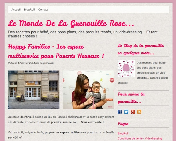 Happy Families - Article du Monde de la Grenouille Rose